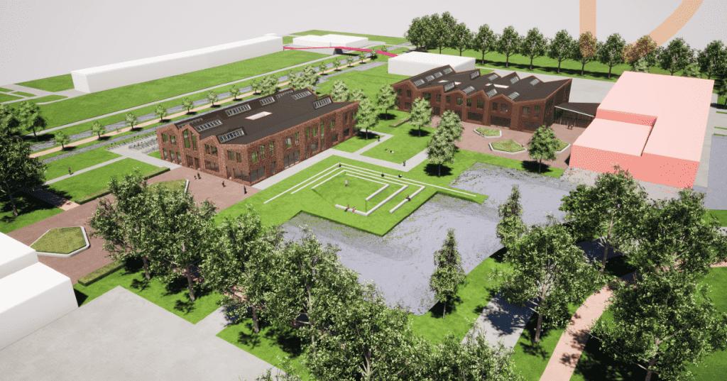 Overzichtsfoto nieuwe schoolgebouwen